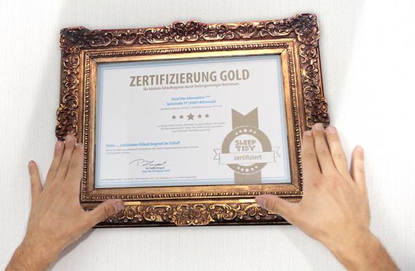 Sleep Tidy - Zertifizierung Gold für nachweislich gereinigte Matratzen